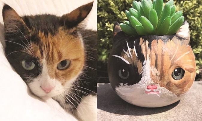 3D Cat planter